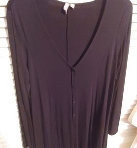 Asos long-sleeve button-up black dress size 10US